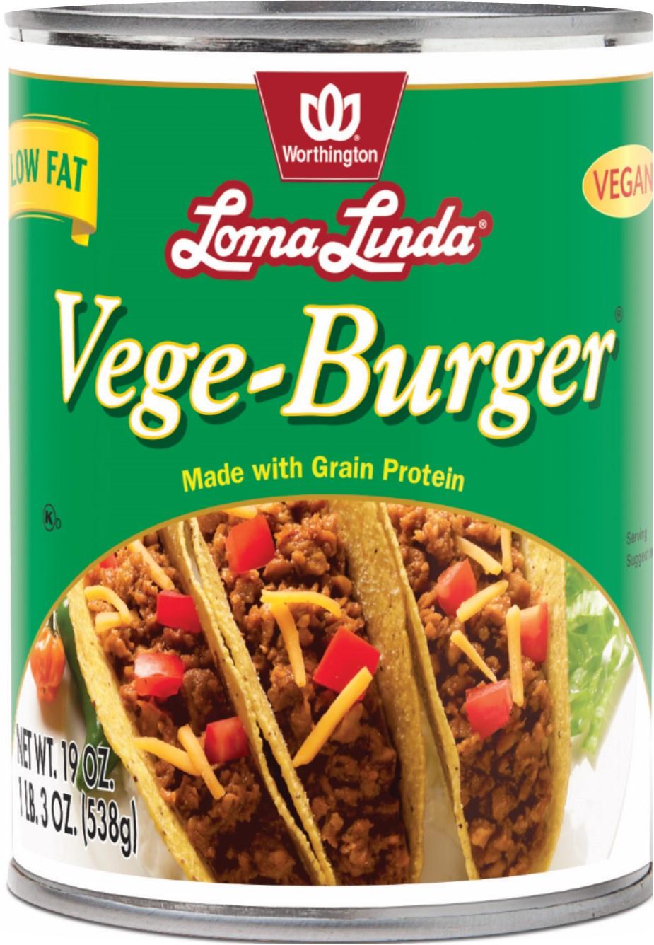 VEGE BURGER LOW FAT LOMA LINDA CASE,LOMA LINDA LF,100055