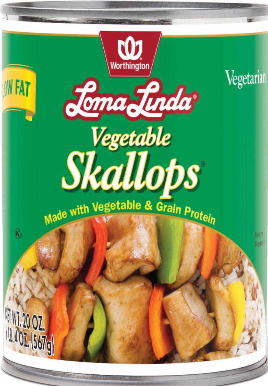 VEGETABLE SKALLOPS LOW FAT CASE,WORTHINGTON LF,100063