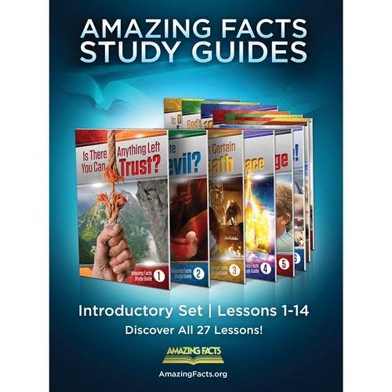 AMAZING FACTS BEGINNER SET 1-14 IN ENVELOPE [AMF],BIBLE STUDY,SG-ISET