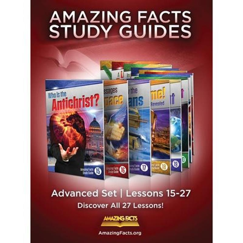 AMAZING FACTS ADVANCED SET 15-27 IN ENVELOPES  [AMF],BIBLE STUDY