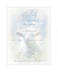 LAMB BABY DEDICATION CERTIFICATE,CHRISTIAN LIVING,U2609