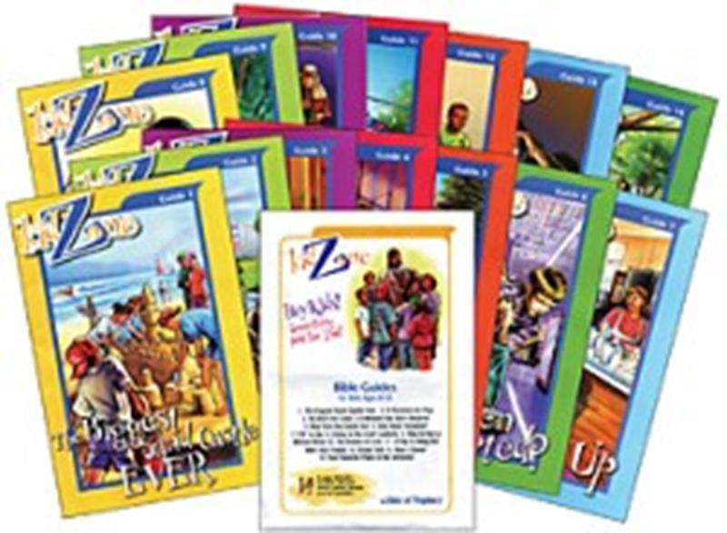 KIDZONE BIBLE STUDY SET OF 14 GUIDES,CHILDREN'S MINISTRY,KZFSEN-L-801