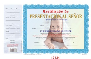 SPN BABY DEDICATION BOY,CERTIFICATE,12134