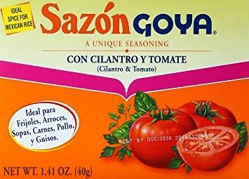 SAZON GOYA CON CILANTRO Y TOMATE,GOYA,4133103786