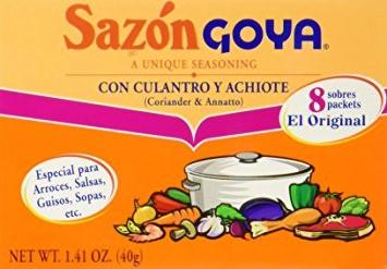 SAZON GOYA CON CILANTRO Y ACHIOTE,GOYA,4133103782