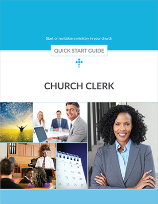 QUICK START GUIDE CHURCH CLERK,QUICK START,416221