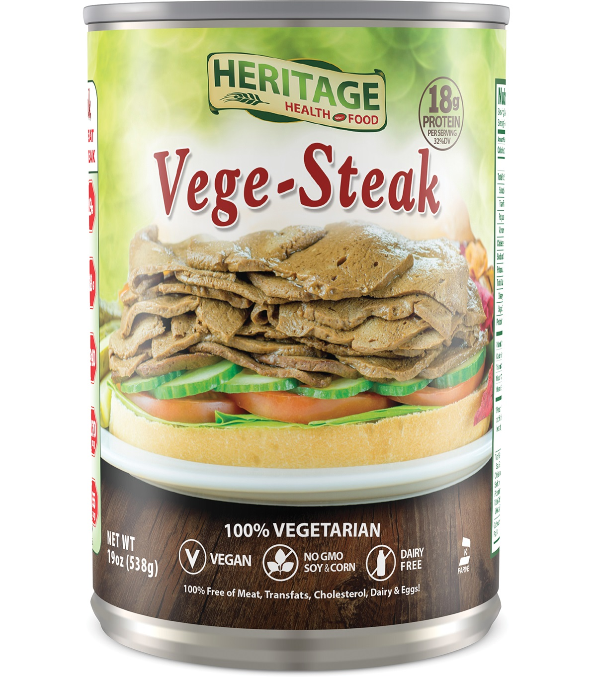 VEGE STEAKS-HERITAGE 6 PACK,HERITAGE HEALTH FOOD,853205002818