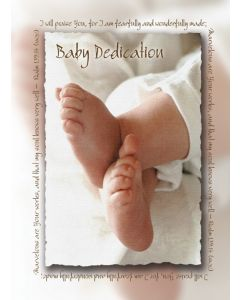 BABY DEDICATION CERTIFICATE - FOLDED, PREMIUM, FULL COLOR,CERTIFICATE,U2469