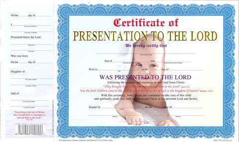 BABY DEDICATION BOY OOP,CHRISTIAN LIVING,12111